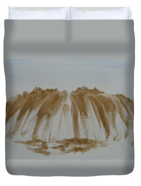 Stone Mountain Sketch Duvet Cover