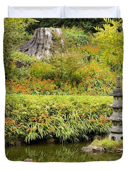 Stone Pagoda Duvet Cover