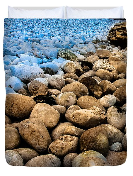 Duvet Cover featuring the photograph Stone Path by Edgar Laureano
