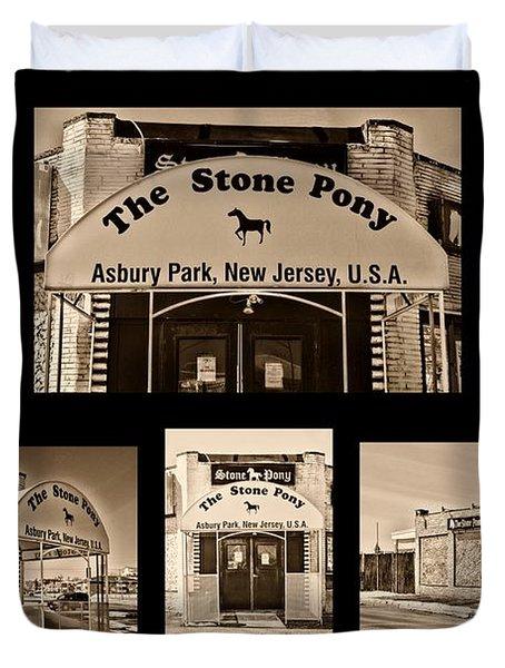 Stone Pony Montage Duvet Cover