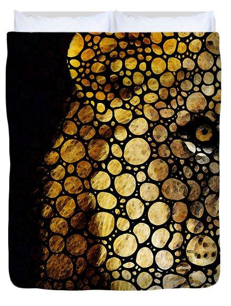 Stone Rock'd Lion - Sharon Cummings Duvet Cover