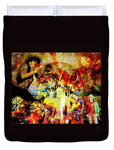 Stone Temple Pilots Original  Duvet Cover by Ryan Rock Artist