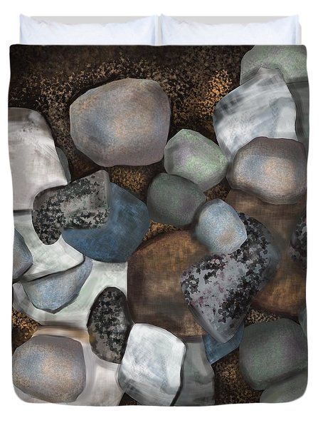 Stone Thoughts Duvet Cover by Christine Fournier