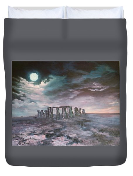 Stonehenge In Wiltshire Duvet Cover
