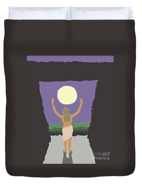 Stonehenge Moonrise Duvet Cover by Fred Jinkins