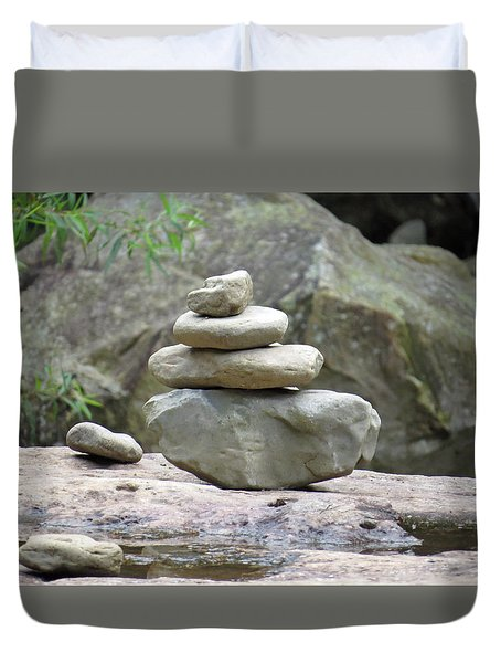 Stones Of Zen Duvet Cover