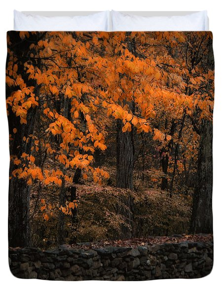 Stonewall In Autumn Duvet Cover by GJ Blackman