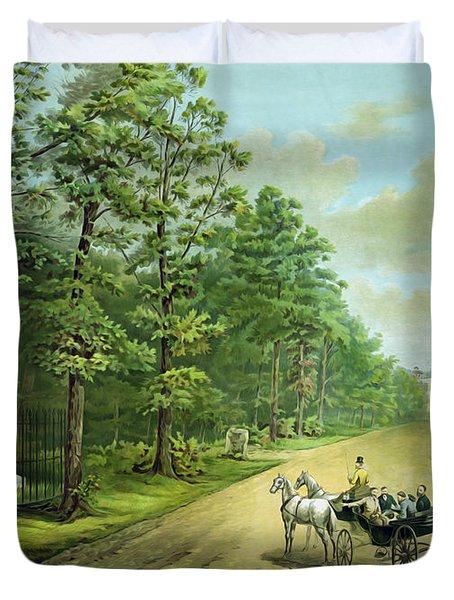 Stonewalls Memorial At Chancellorsville Duvet Cover