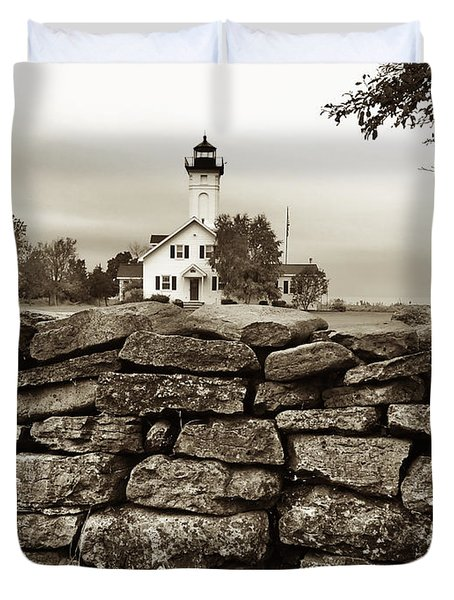 Stony Point Lighthouse Duvet Cover