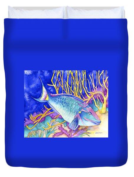 Stoplight Parrotfish Duvet Cover