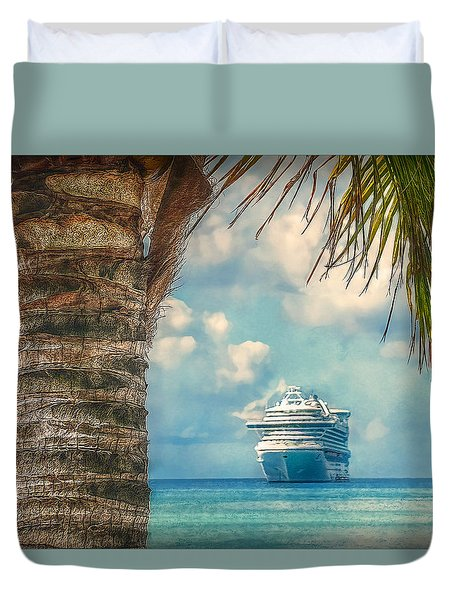 Stopover In Paradise Duvet Cover by Hanny Heim