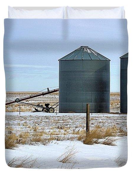 Storage Bins On The Prairie Duvet Cover