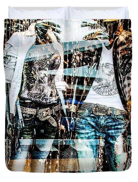 Store Window Display Duvet Cover