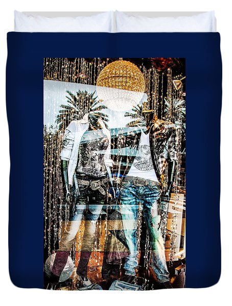 Store Window Display Duvet Cover by Rudy Umans