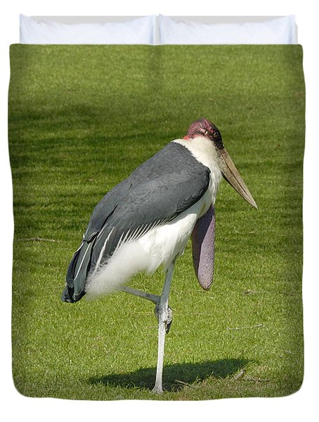 Duvet Cover featuring the photograph Stork by Charles Beeler
