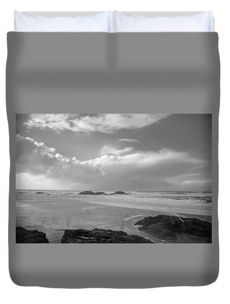 Storm Approaching Duvet Cover by Roxy Hurtubise