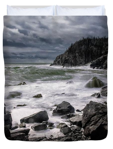Storm At Gulliver's Hole Duvet Cover