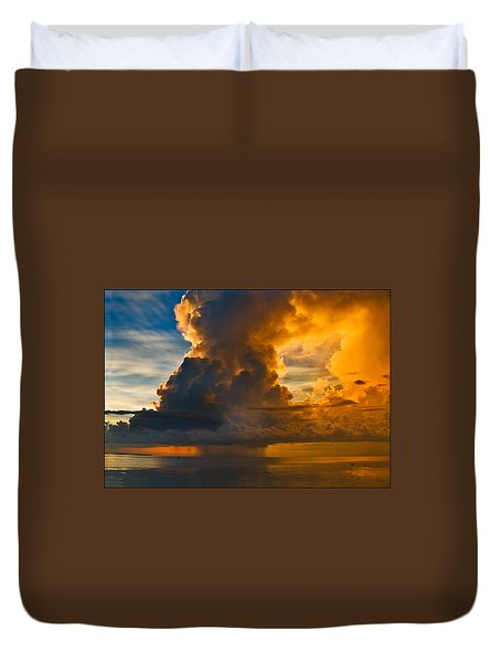 Storm At Sea Duvet Cover