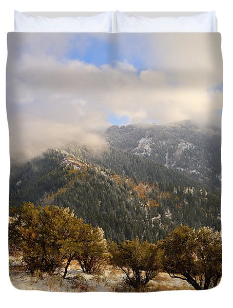 Storm Atop Oquirrhs Duvet Cover