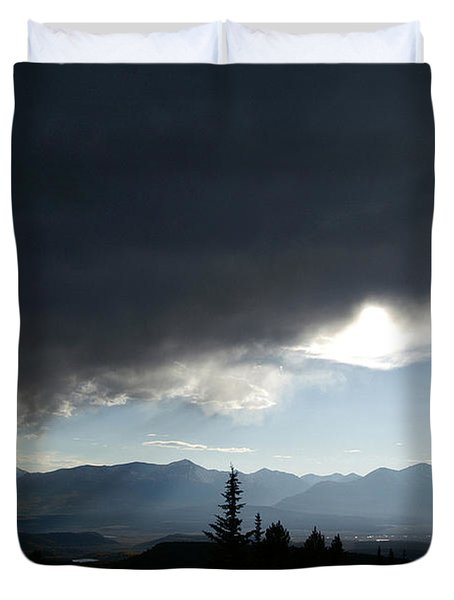 Storm Blows Over Duvet Cover by Jeremy Rhoades
