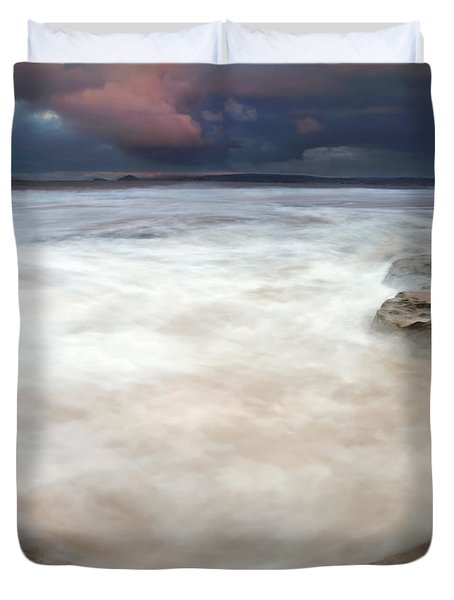 Storm Bowl Duvet Cover by Mike  Dawson