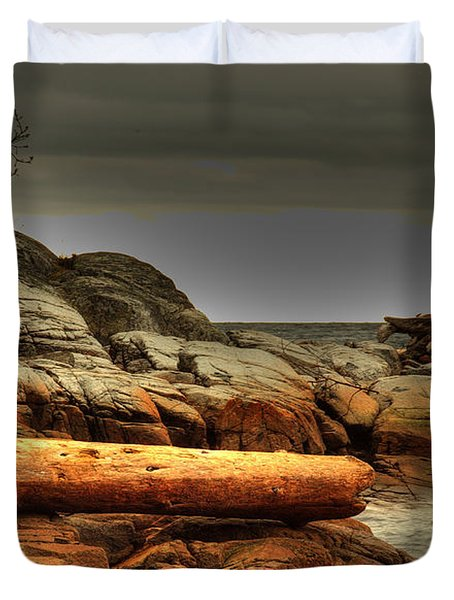 Storm Brewing Duvet Cover by Randy Hall