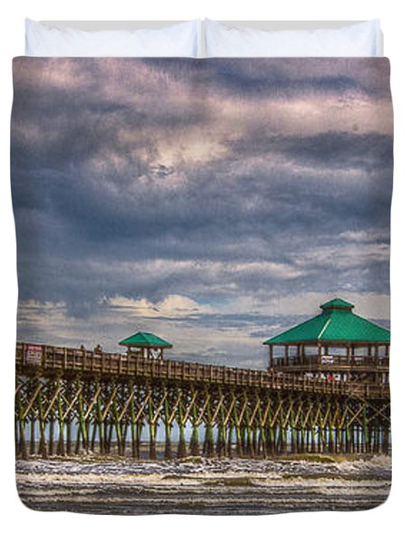 Storm Clouds Approaching - Hdr Duvet Cover
