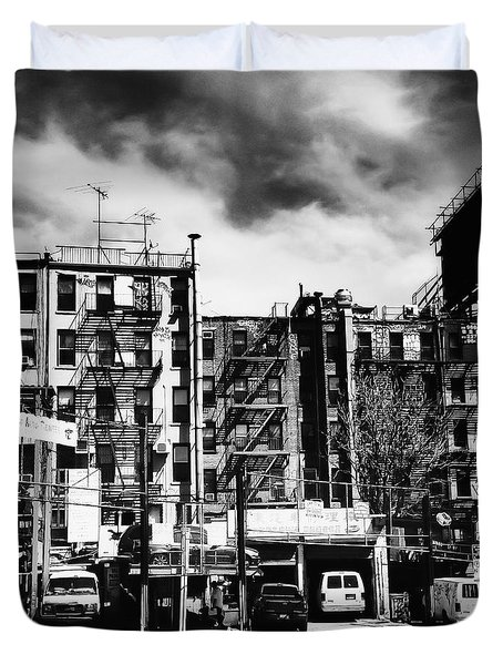Storm Clouds Over Chinatown - New York City Duvet Cover