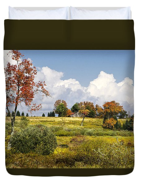 Duvet Cover featuring the photograph Storm Clouds Over Country Landscape by Christina Rollo