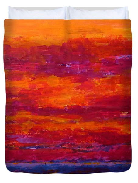 Storm Clouds Sunset Duvet Cover