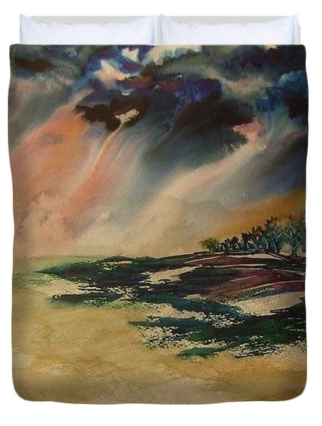 Storm In The Heartland Duvet Cover