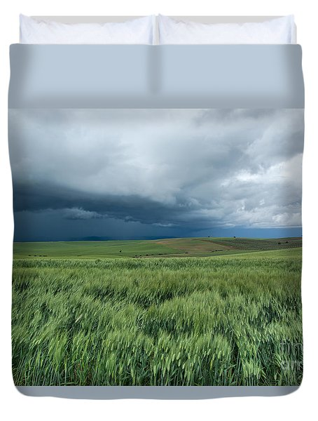Duvet Cover featuring the photograph Storm Is Coming by Simona Ghidini
