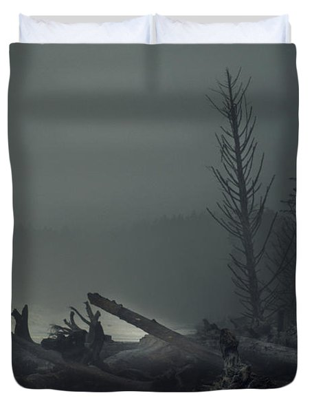 Storm Is Not Over. Duvet Cover