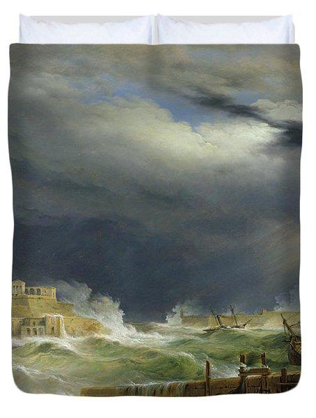 Storm Malta Duvet Cover by John or Giovanni Schranz