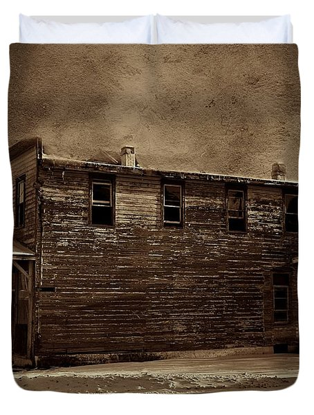 Storm Of 1888 Duvet Cover by David Dehner