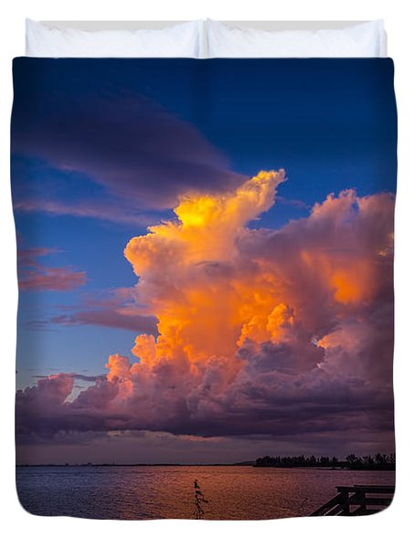 Storm On Tampa Duvet Cover