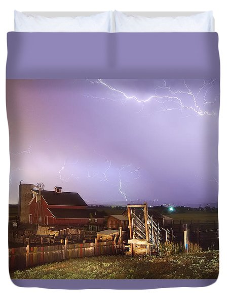 Storm On The Farm Duvet Cover by James BO  Insogna