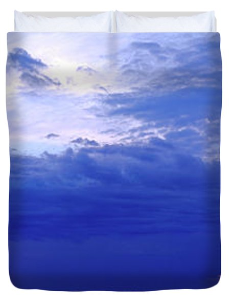 Storm Over A Lake, Lake Superior Duvet Cover