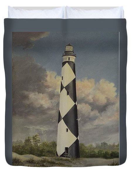 Storm Over Cape Fear Duvet Cover by Wanda Dansereau