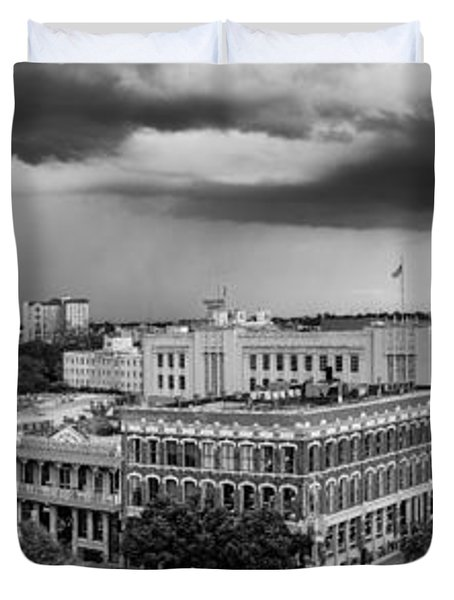 Storm Over San Antonio Texas Skyline Duvet Cover