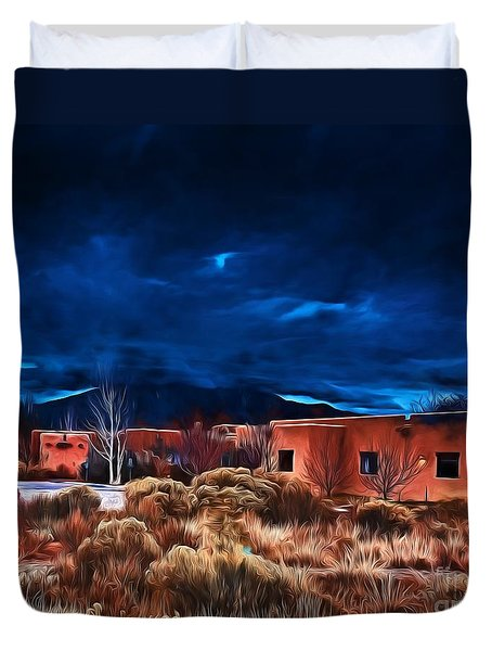 Storm Over Taos Lx - Homage Okeeffe Duvet Cover