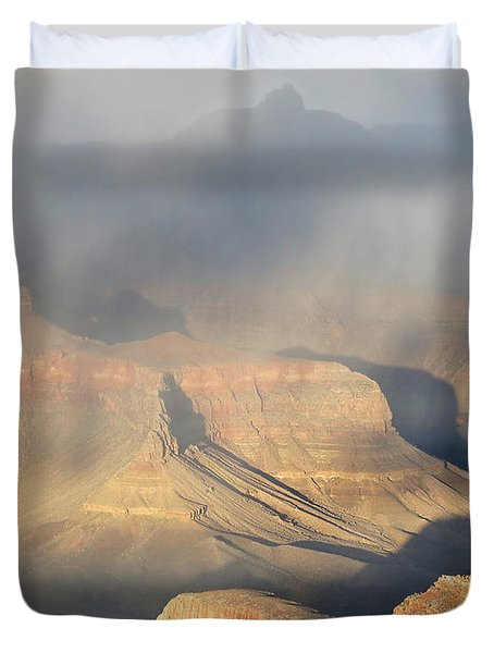 Storm Over The Grand Canyon Duvet Cover