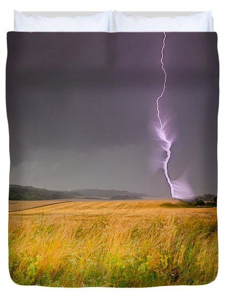 Storm Over The Wheat Fields Duvet Cover by Eti Reid