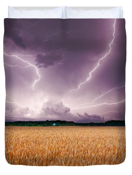 Storm Over Wheat Duvet Cover