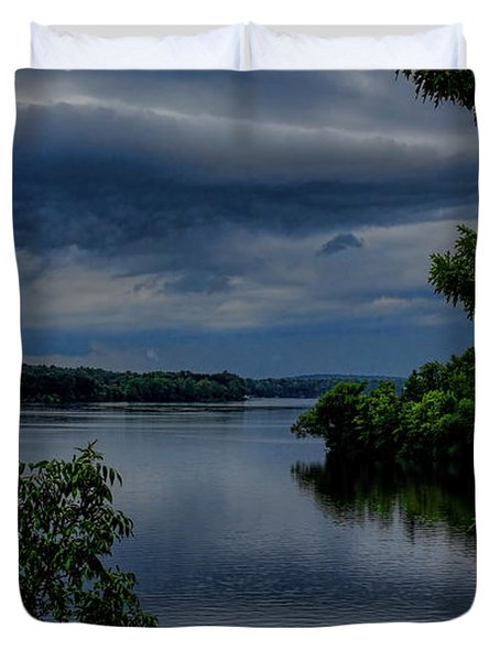 Storm Rolling Over Lake Wausau Duvet Cover
