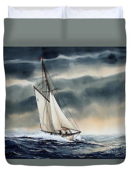 Storm Sailing Duvet Cover by James Williamson