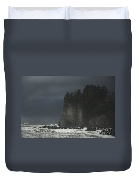 Storm At Lapush Washington State Duvet Cover
