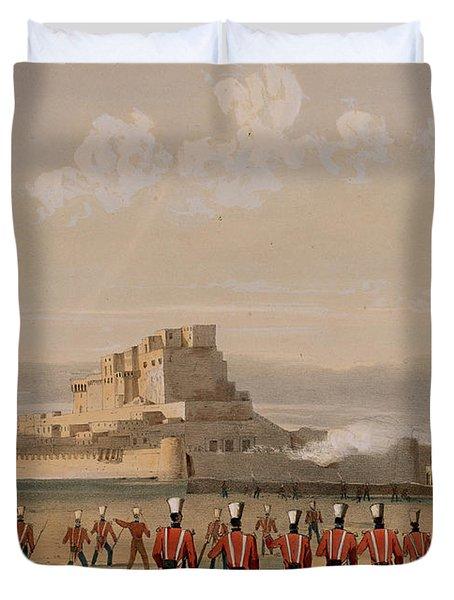 Storming Of Khelat, The Advance Duvet Cover