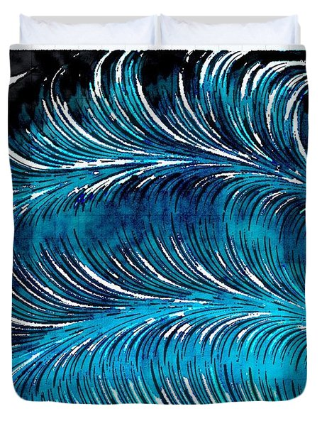 Storms At Sea Duvet Cover