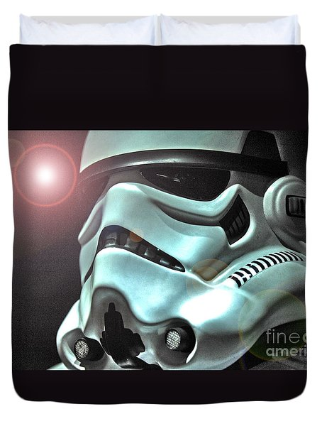 Stormtrooper Helmet 27 Duvet Cover